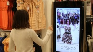 Topshop augmented reality - image from Mashable