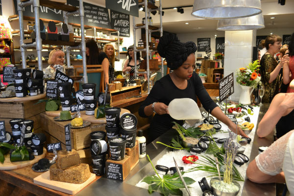 The retail experience in Lush stores